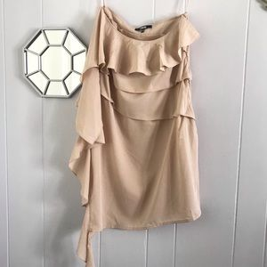 ASOS Nude Ruffle Dress 10